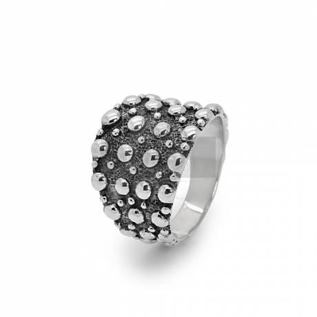 Antikolt ezüst gyűrű