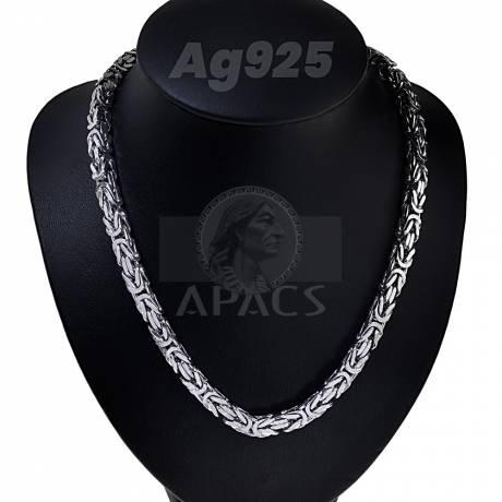 Szögletes király nyaklánc 70 cm