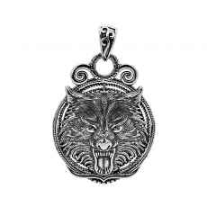 Antikolt ezüst medál